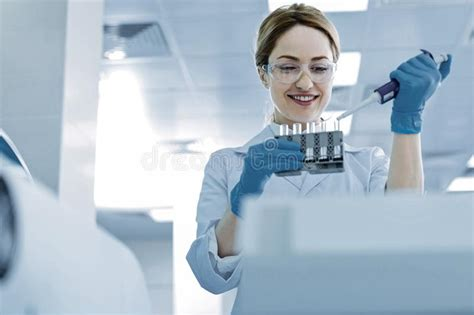 professional scientist checking  types  seeds
