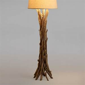 Cost plus world market driftwood floor lamp base natural for Floor lamp stand online india