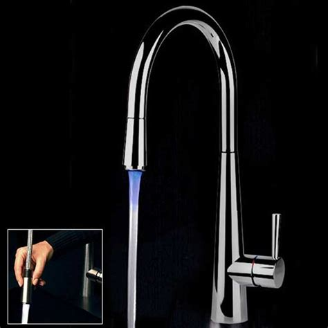 gessi kitchen faucets natalia light kitchen faucet by gessi with pull out aerated spray in led lights water with
