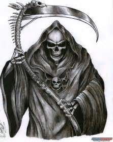 Full Sleeve Grim Reaper Tattoo For Men