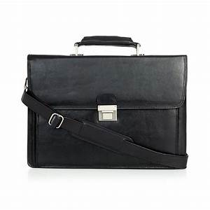 kenneth cole new york leather slim document case in black With mens leather document case