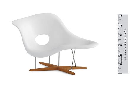 vitra miniatures collection eames 174 la chaise design within reach