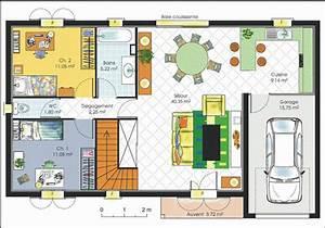 plan de maison de luxe etage chaioscom With plan maison etage 100m2 15 plan maison moderne en bois chaios