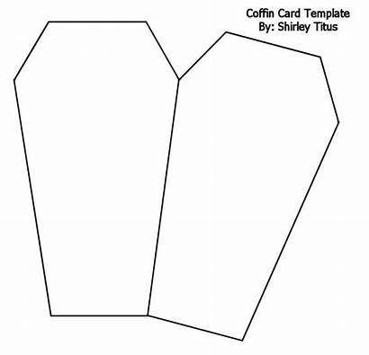 Coffin Halloween Cards Templates Template Card Shaped
