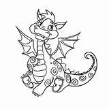 Dragon Coloring Drago Awesome Printable Disegno Colorare Draghi Kawaii Bambini Mignon Disegni Remarkable Inspirations Petit Vectorielle Assis Est Template Credit sketch template