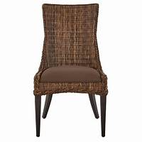 wicker dining room chairs Home Decorators Collection Genie Brown Weave Wicker Dining Chair (Set of 2)-9940500170 - The ...