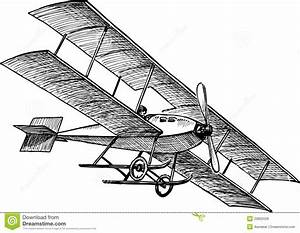 Ancient airplane stock photo. Image of hand, pilot, sketch ...