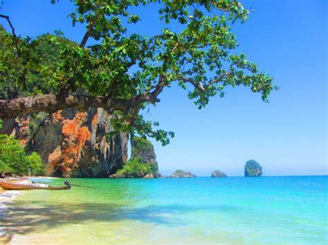 railay beach thailand widescreen hd wallpaper