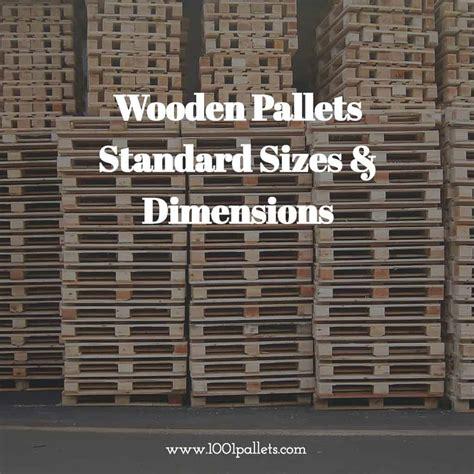 pallet dimensions international standard sizes dimensions