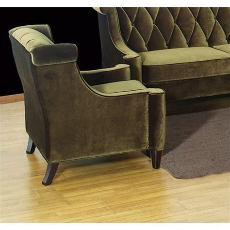 armen living barrister chair armen living barrister velvet tufted club chair in green