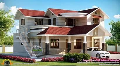Staircase Outside Kerala Floor Plans Plan Traditional