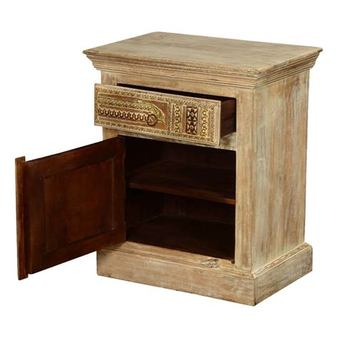 Mango Wood Nightstand by Modern Mosaic Mango Wood Nightstand Mini Cabinet