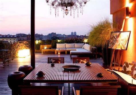 arredare terrazze illuminazione terrazzo foto design mag