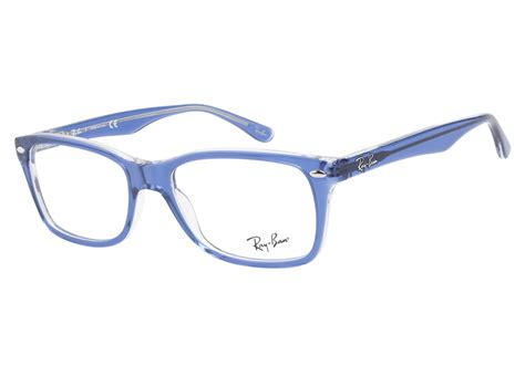 blue glasses ray ban 5228 5111 top light blue transparent ray ban glasses coastal com 174
