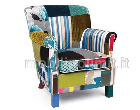 Poltrone Relax Patchwork : Poltrona Bergère Isotta Patchwork