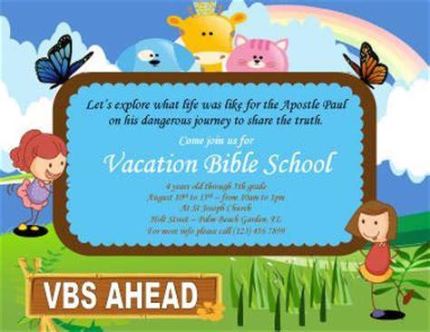 cartoon vacation bible school flyer template marketing