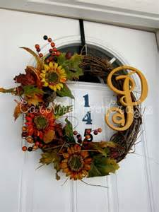Sunflower Fall Wreath Grapevine