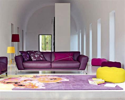 Purple Living Room Design Ideas