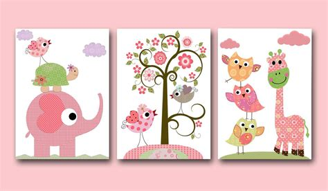 Children's Art Kids Decor Baby Girl Room Decor Baby Girl