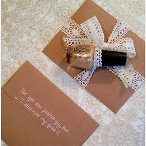 diy bridesmaid cards quotwill you be my bridesmaidquot and With wedding dress nail polish