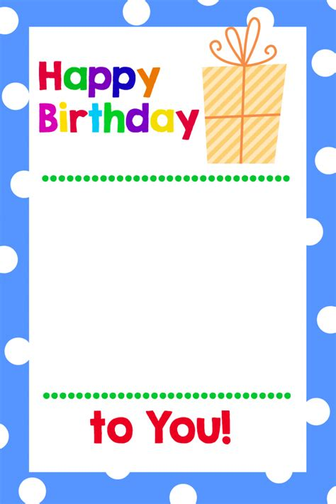 birthday card boy template free printable birthday cards that hold gift cards