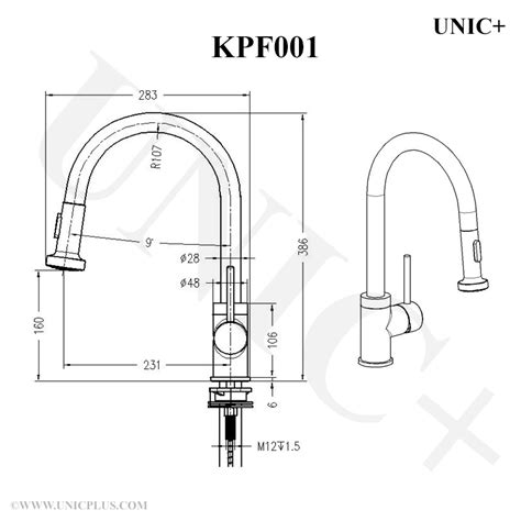 how to measure a kitchen sink pull out style solid brass kitchen faucet kpf001 in 8753