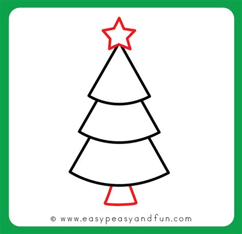 christmas pictures step by step how to draw a tree step by step drawing tutorial easy peasy and