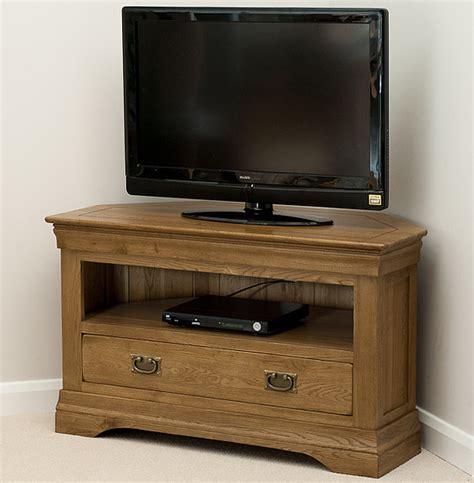 farmhouse rustic solid oak corner tv cabinet
