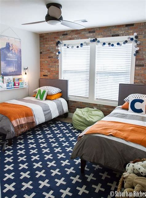 By tucking the beds into a corner, you'll free up plenty of floor space. Cute Boys Bedroom Design For Cozy Bedroom Ideas 24 | Boys ...