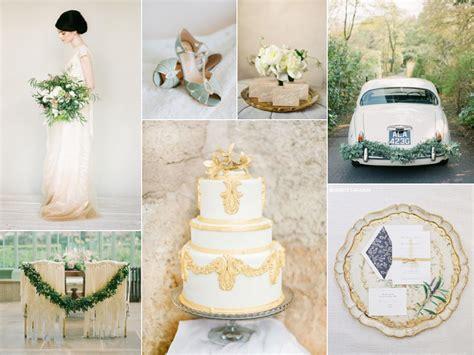 Ivory Gold and Green Wedding Burnett's Boards