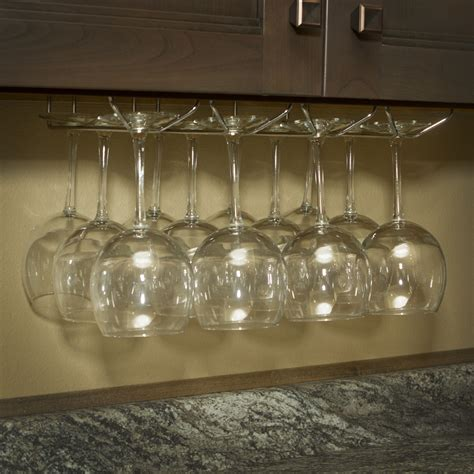 wine glass hangers under cabinet wine glass rack under cabinet stemware holder holds 6 to