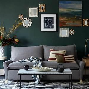 Salon Gris Bleu : d co moderne pour le salon 85 id es avec canap gris ~ Melissatoandfro.com Idées de Décoration