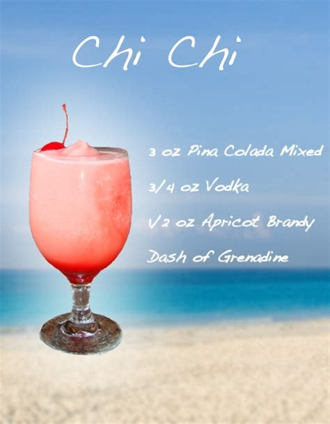 frozen cocktail recipes chi chi frozen drink recipe white girl wasted pinterest