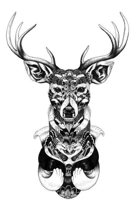 art body tattoos mandala deer tattoo tattoos ink