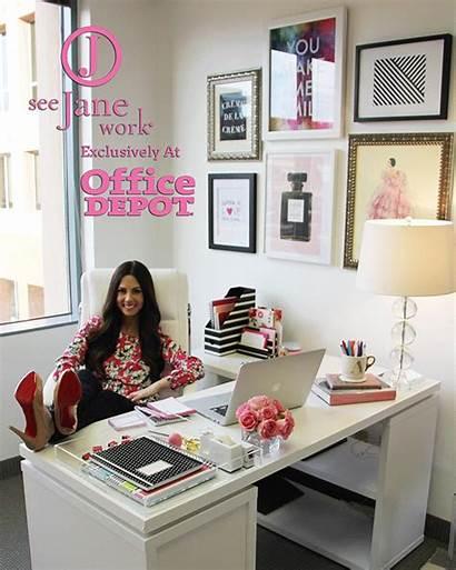 Office Decor Space Chic Jane Desk Decorating