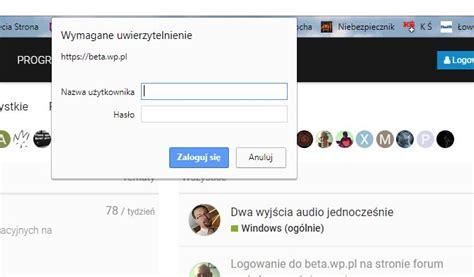 Logowanie Do Beta.wp.pl Na Stronie Forum