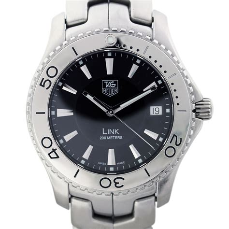 tag heuer link wj  stainless steel quartz mens