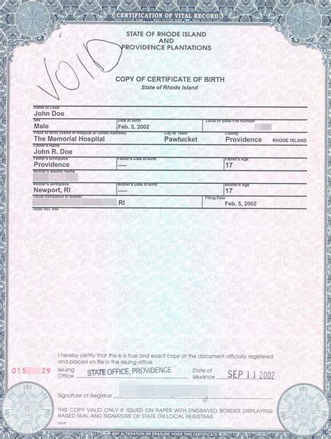 Original Or Certified Copy Of A Birth Certificate Nalini