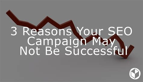 3 Reasons Your Seo Campaign May Not Be Successful