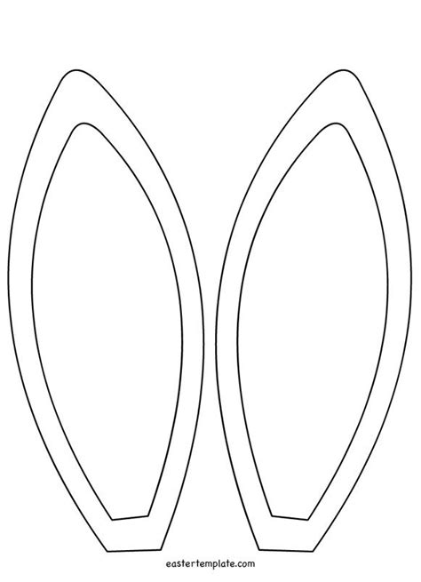 bunny ears template coloring page easter bunny ears