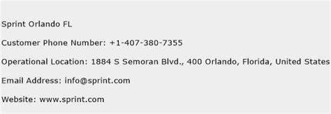 sprint phone number sprint orlando fl customer service phone number toll