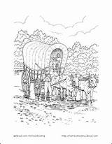 Coloring Pioneer Wagon Printable Lds Covered Activities Plain Sarah Pioneers Tall Printables Sheets Primary Activity Template Days Nations Crafts Trek sketch template