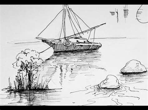 Boat Drawing Ink by Pen Ink Drawing Tutorials How To Draw Water Reflection