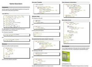 python decorators cheat sheets pinterest python