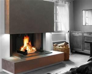 Cheminée à Foyer Ouvert : cheminee foyer ouvert 3 faces ~ Premium-room.com Idées de Décoration
