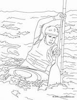 Kayak Coloring Canoe Pages Drawing Canoes Sports Water Template Easy Printable Sketch Getcolorings Hellokids Kayaks Getdrawings Source sketch template