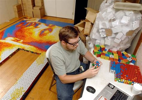 giant rubiks cube mosaic  martin luther king jr