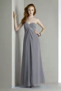 grey chiffon bridesmaid dress buy tailor made handmade beading sweetheart chiffon grey great dress for bridesmaid