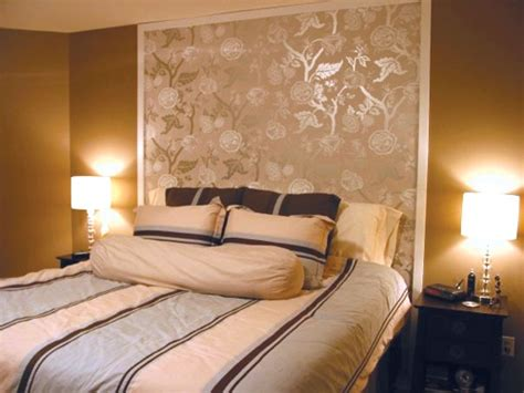 wallpaper headboard ideas gallery