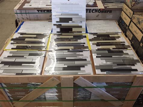 new pallet of glass mosaics just came in today factory